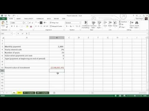 Spreadsheets for Finance: How to Calculate Present Value