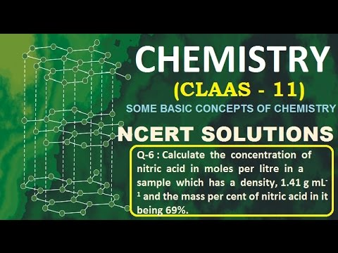 class 11 chemistry ncert solutions  chapter 1 Question 06 Calculate  the  concentration  of  nitric