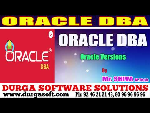 Oracle Tutorial DBA || Oracle versions by shiva