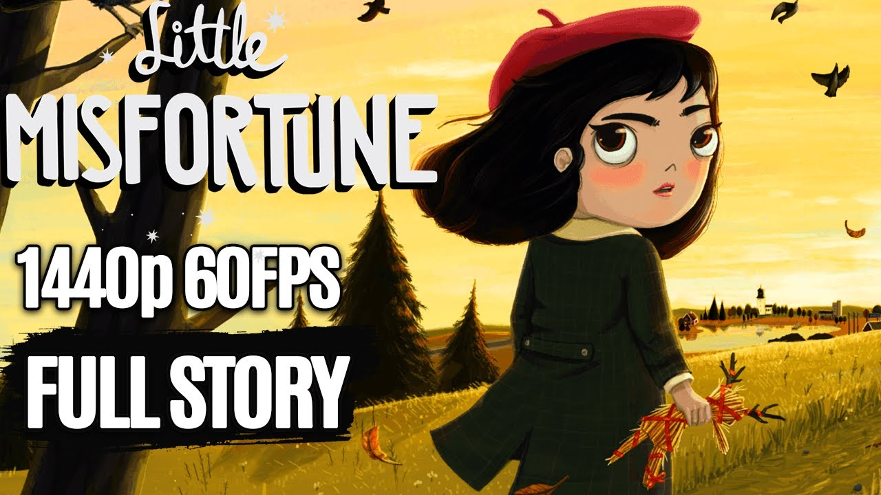 Little Misfortune All Cutscenes Full Story (Game Movie) @ 1440p 60FPS