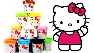 Play Doh Hello Kitty Pots by lababymusica