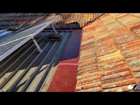 installing new colorbond tile transition flashing on an old kliplok metal roof part 2