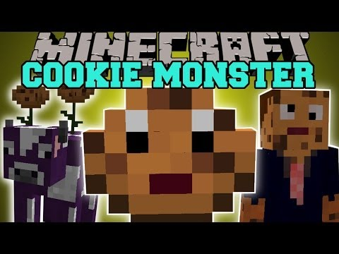 Minecraft: COOKIE MONSTER (JUMPING COOKIES, COOKIE COW, COOKIE BIOME, & MORE!) Mod Showcase
