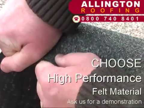 How to repair a flat roof - first choose the right felt