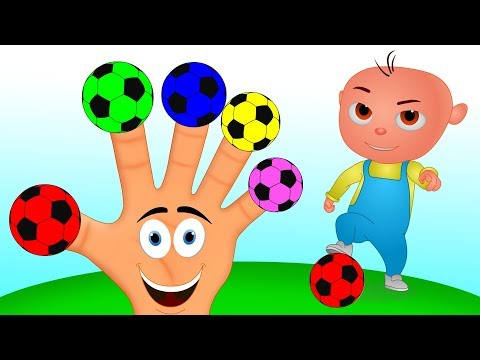 Soccer Balls Finger Family Song - Learn Colors for Kids with Nursery Rhymes And More For Kids Video