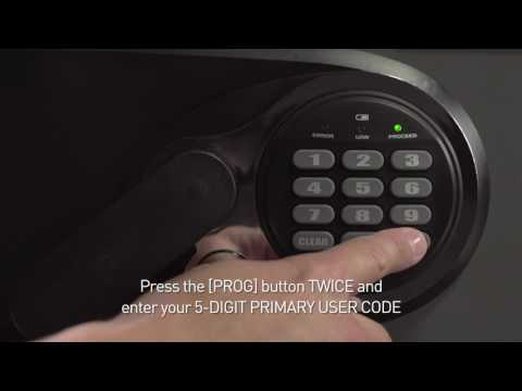 How to Program Codes on a Sentry®Safe Basic Electronic Lock Fire Safe