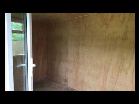 Insulate and lining of shed in Cornwall