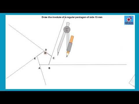 envolute of regular pentagon with practical demonstration & solved problem.