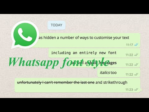 How to change font Whatsapp | Tamil Tech Vedio | whatsapp tricks