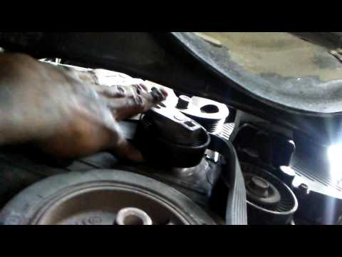How to remove serpentine belt 2004 Hyundai Santa Fe 2.7