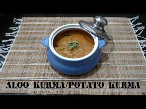Potato kurma recipe/aloo kurma for ghee rice, chapathi, biryani, puri, pulao