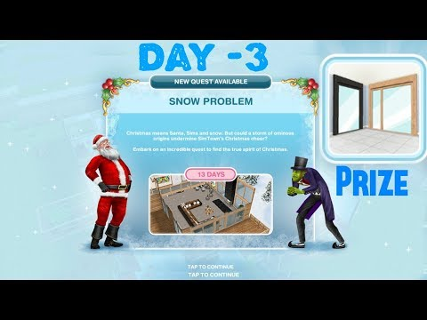 Simsfreeplay - Snow Problem Quest Day - 3 Christmas Holiday Update
