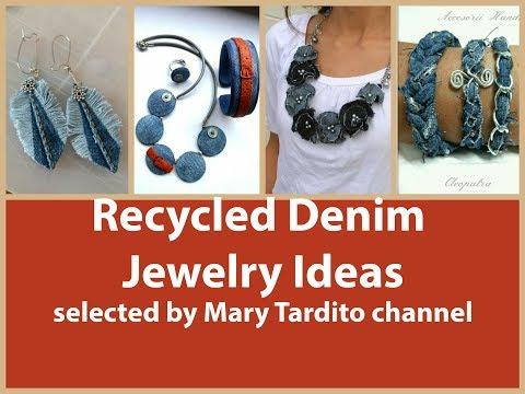 Recycled Denim Jewelry Ideas - Old Jeans Recycled Jewelry Ideas