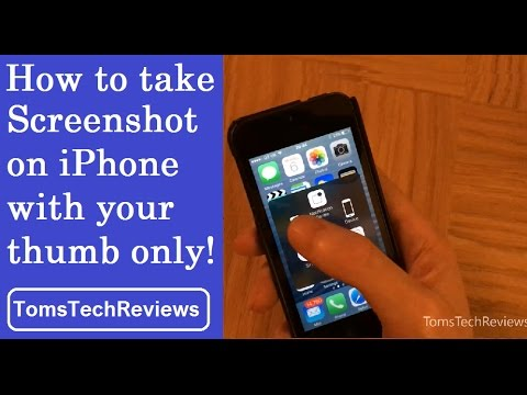 How to take screenshot one handed on iPhone 5/6/7/8 - iOS 10