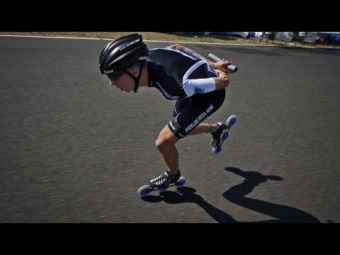 24 hours Le Mans LAP RECORD Triskating - Bart Swings - Powerslide Race Inline Skates