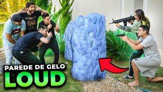 QUEM CONSTRUIR A MELHOR PAREDE DE GELO GANHA!! LOUD