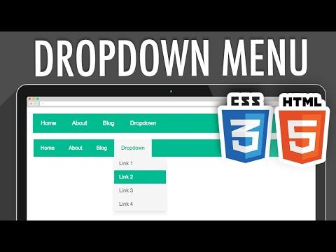 HTML5 CSS3 Dropdown Navigation Menu | XO PIXEL