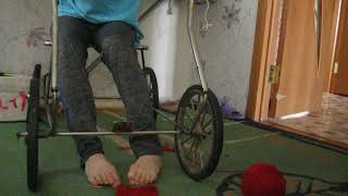 I suffer from cerebral palsy, I  crochet with  feet