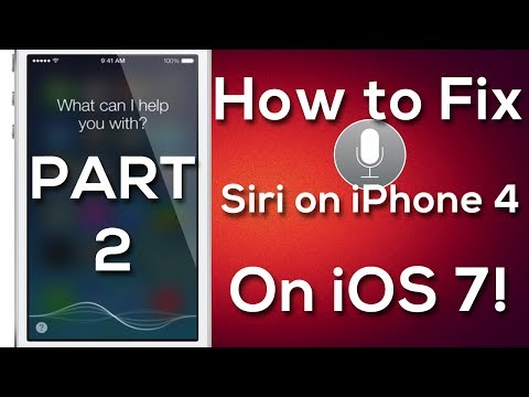 Part 2 - How To Fix Siri On iOS 7 (Jailbreak Tweak)   for iPhone 4, iPod touch 4th gen, and iPad!