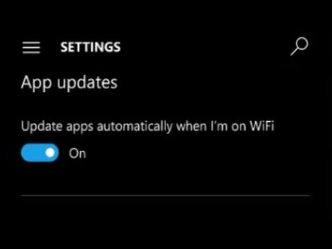 How to stop automatic App updates on windows phone 10