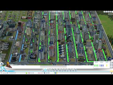 SimCity 5 200,000 + with no Traffic Problems (Solution) !