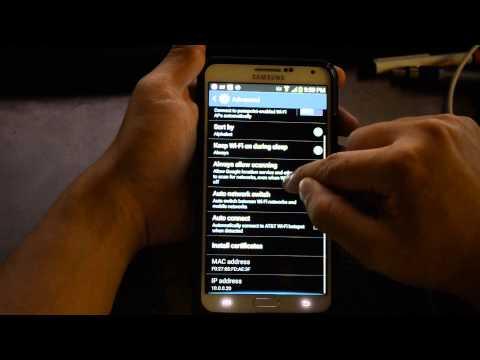 Samsung Galaxy Note 3 - Wifi Performance - Advanced Menu