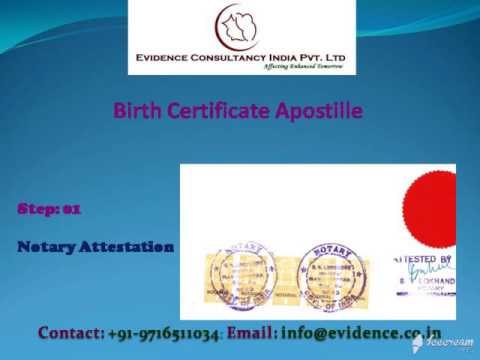 BirthCertificate  Apostille for Germany