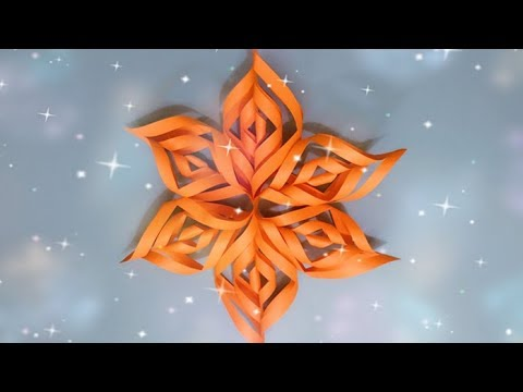 ABC TV | How To Make 3D Snowflake From Paper - Origami Craft Tutorial