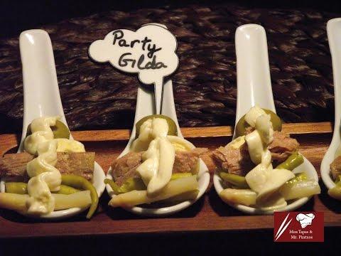 Basque pintxos and tapas: How to make Gildas on appetizer spoons