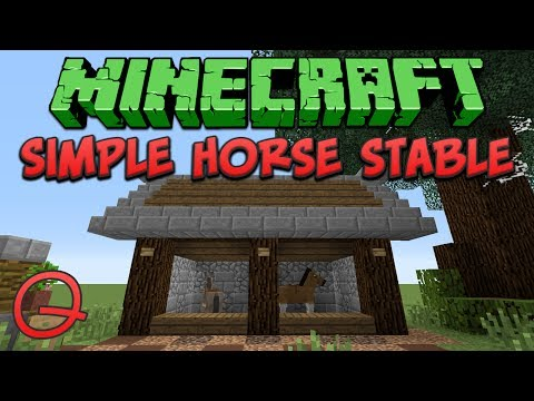 Minecraft: Simple Horse Stable (Quick) Tutorial