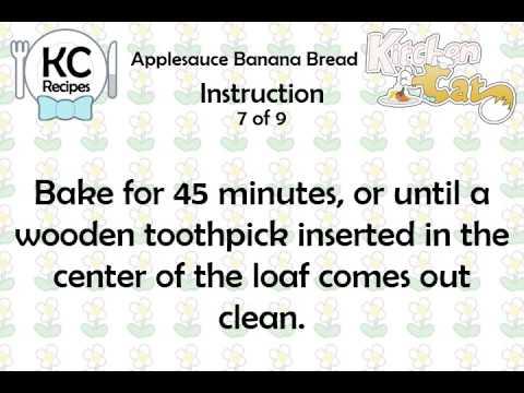 Applesauce Banana Bread - Kitchen Cat