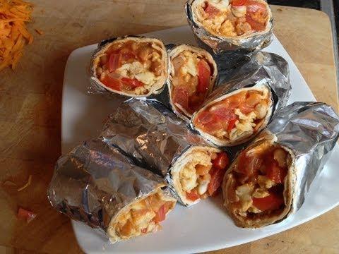 All Day Breakfast Vegetarian Burritos Recipe - MYVIRGINKITCHEN
