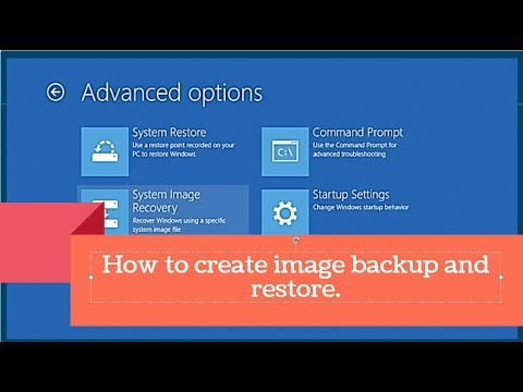 How to create image backup and restore