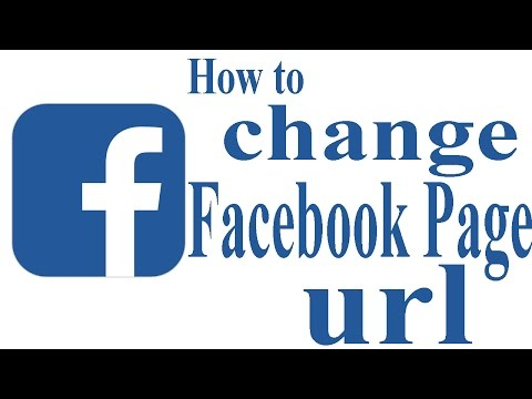 How to change facebook page URL 2017