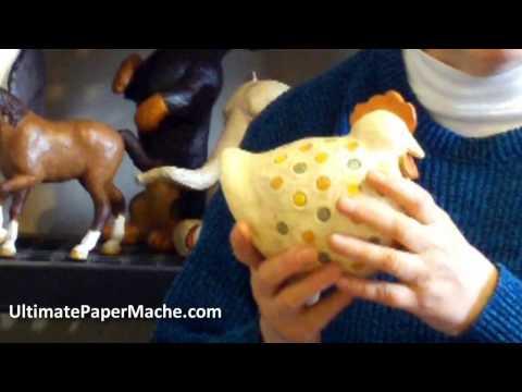 Paper Mache Chicken