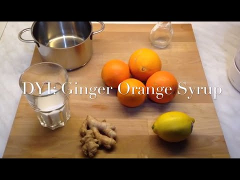 How to do Syrup: Ginger Orange Syrup - cheap and fast