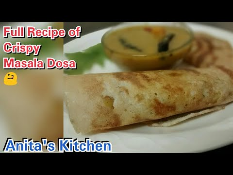 How to make crispy masala dosa in restaurant style   authentic masala dosa   Masala Dosa Recipe