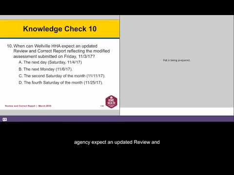 Review and Correct Report Research Scenario