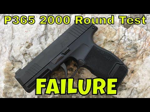 Sig P365 Gen 2 2000 Round Test:  Complete Failure