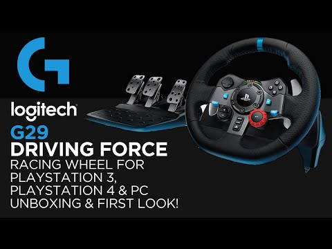 Logitech Gaming G29 Driving Force Racing Wheel Unboxing & First Look! (For PS3, PS4 & PC)