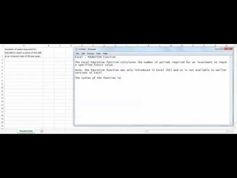 Excel PDURATION function - how to use PDURATION function