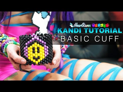 Kandi Tutorial | Basic Cuff [iHeartRaves.com]