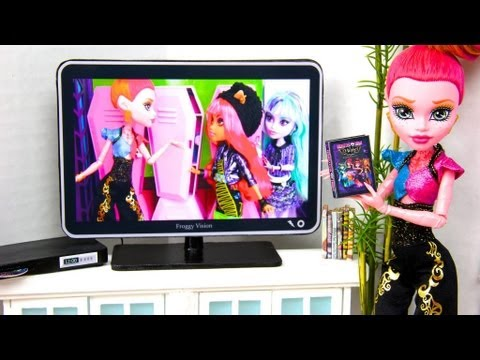 How to Make a Doll Flat Screen TV with DVD Player : Special Monster High 13 Wishes Project