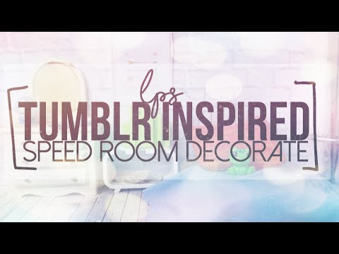 Lps: Tumblr Inspired Speed room decorate|Lps.Wizard