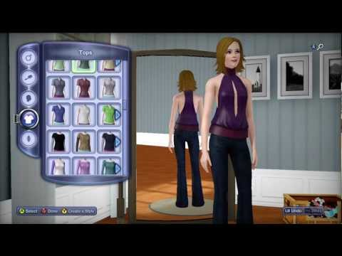 The Sims 3 Pets Xbox 360 - In Depth Character creation - Female (HD)
