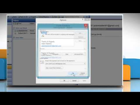 How to attach a vCard to an automatic signature in Microsoft® Outlook 2003
