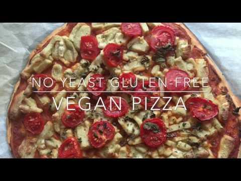 NO YEAST GLUTEN-FREE VEGAN PIZZA