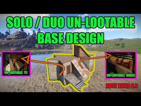 Unlootable Rust Solo / Duo Base - Rust Base Design - Rust Build 3.0