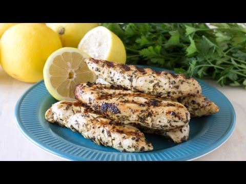 Quick Grilled Lemon Chicken Tenders