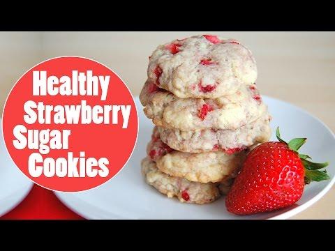 Healthy Strawberry Sugar Cookies